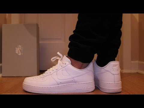 Nike Air Force 1 Low White On-Feet - SNEAKER TALK - YouTube