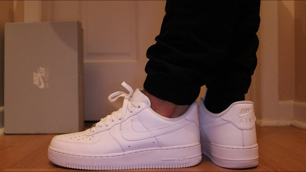 new style 7540b 3edf1 Nike Air Force 1 Low White On-Feet - SNEAKER TALK - YouTube