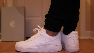 nike air force 1 low white on feet sneaker talk