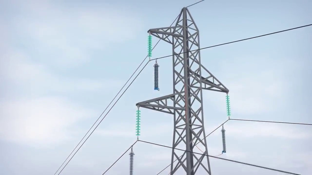 surge arrester for transmission line in power grid - YouTube