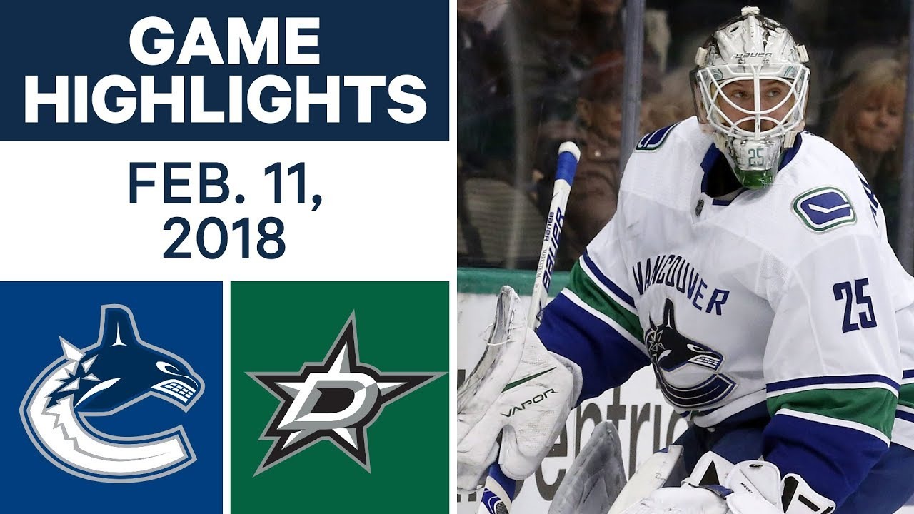 NHL Game Highlights | Canucks vs. Stars - Feb. 11, 2018