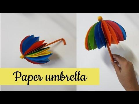Paper umbrella making/ Easy orgami craft idea for children/Diy/Malayalam channel/ART4 u