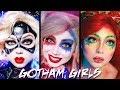 Gotham Girls MAKEUP Compilation - Harley Quinn, Poison Ivy, Catwoman!