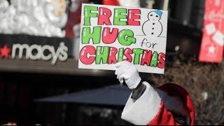 Free Hugs for Christmas in NYC 2016 -サンタになってフリーハグしてみた-