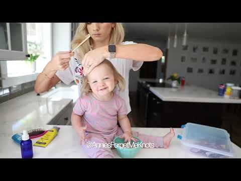 Little Girl Topsy Tail Hairstyle thumbnail