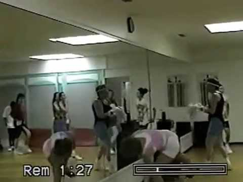aerobics fitness  1992- teaching a hi/lo aerobics class