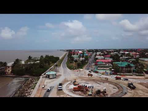 New Roundabout being built in Georgetown, Guyana   30th March 2018