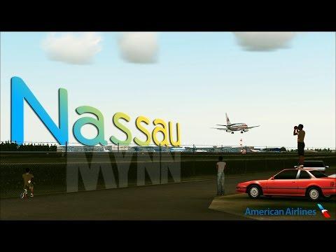 FSX [HD] - Teeth Shattering Landing   Nassau   American 737-200