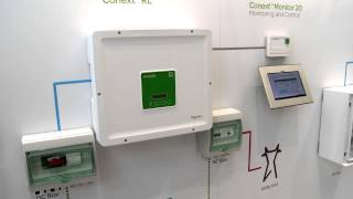 Schneider Electric's Conext Monitor 20 Monitoring at Intersolar Europe 2013