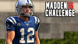 Andrew Luck Kick Return! - Kick Returning With Quarterbacks! - Madden 16 NFL Challenge!