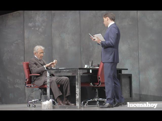 Vídeo-noticia: Pepe Sacristán presenta en la Semana del Teatro de Lucena la obra 'Muñeca de Porcelana'