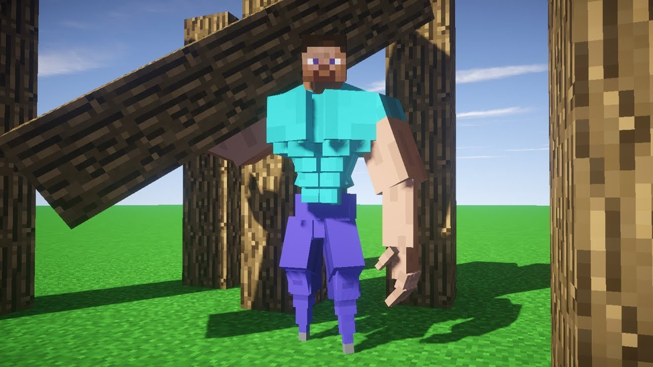 Thicc Minecraft Steve Youtube