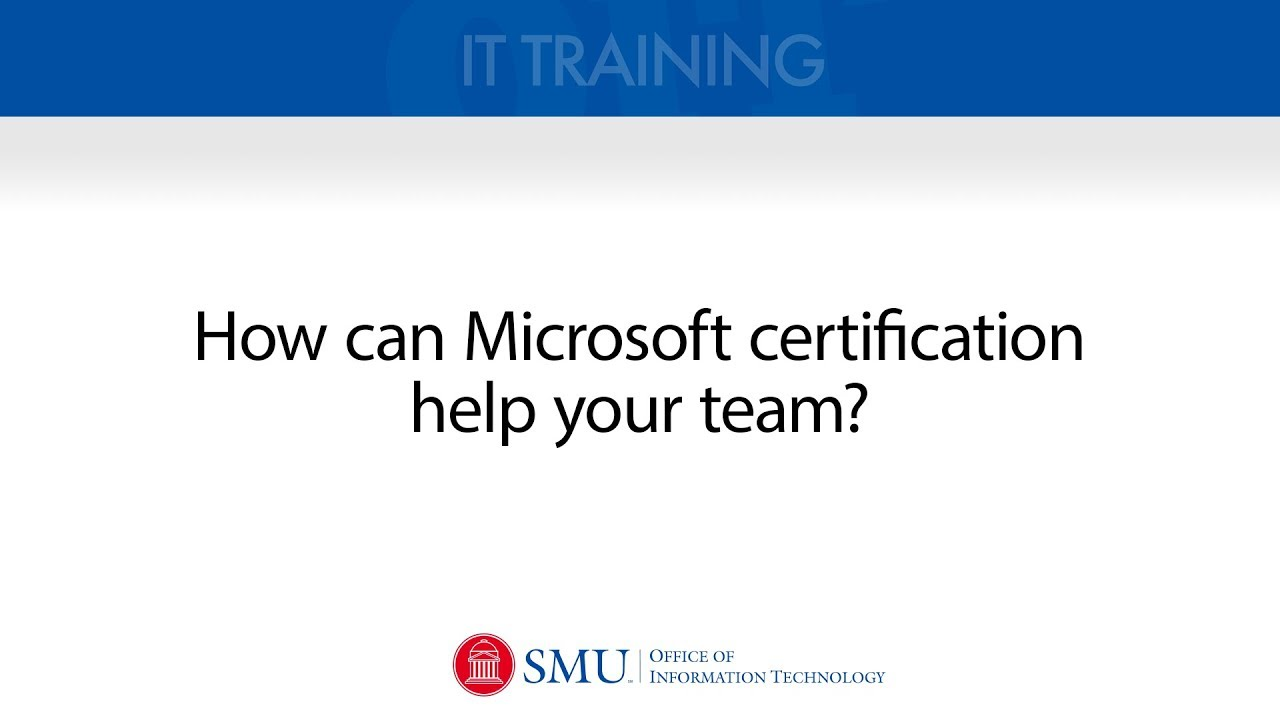 Microsoft Office Specialist Certification For Staff Youtube