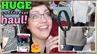 HUGE COLLECTIVE HAUL | Goodwill, Half Price Books, & MORE!!! (Plus-Size + Try-On Style)