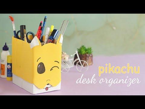 DIY Pikachu Desk Organizer | Pencil Holder | Handcraft
