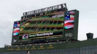Introductions at lambeau Field in Green Bay Wisconsin