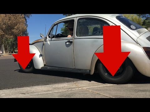 I Think We Went too Low! Lowering the 74 VW BUG