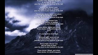 To Your Brethren in the Dark - Satyricon (lyrics OS)