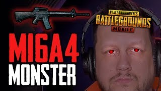 BE A MONSTER WITH THE M16 in PUBG Mobile!