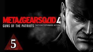 Metal Gear Solid 4 Walkthrough - Part 5 Rat Patrol Let's Play MGS4 Gameplay Commentary
