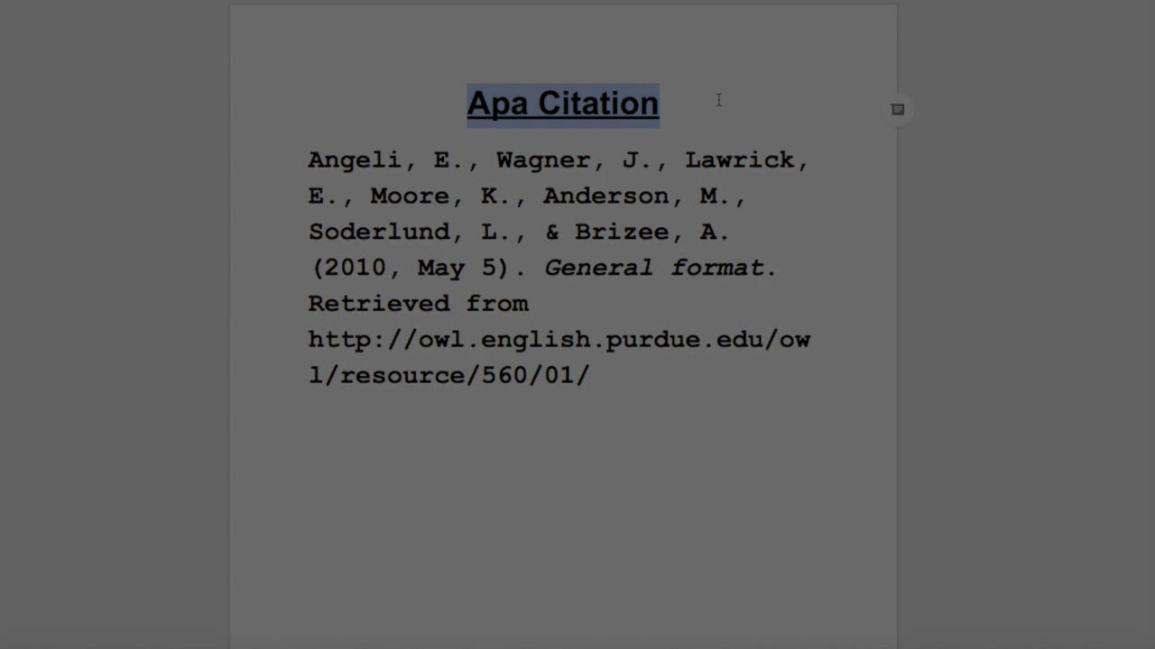 How To Cite A Website In Apa Format