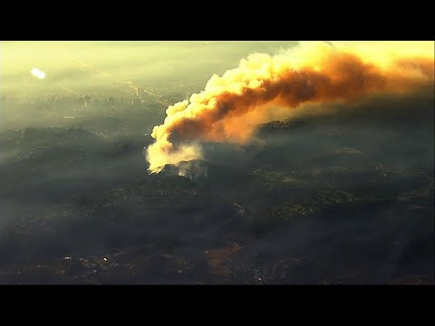 Homes Burn as Fire Breaks out in Los Angeles