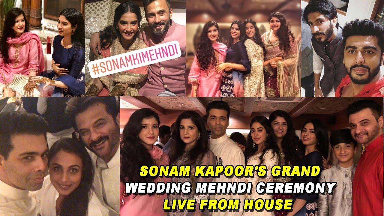 Mehendi Ceremony S List : Sonam kapoor s grand wedding mehndi ceremony live from