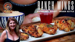 Ranch Chicken Wings Recipe Cooked on Arteflame Insert for Weber Grill