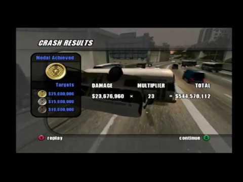 Burnout 2 - Crash Mode - Freeway Fury/9 - 544 million (World Record/WCR 1st)