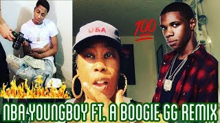 NBA YOUNGBOY FT. A BOOGIE GG REMIX | REACTION 👀