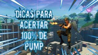 DICAS COMO ACERTA 100% DE PUMP E DICAS PARA CONSTRUIR MAIS RAPIDO FORTNITE HIGHLIGHTS#1