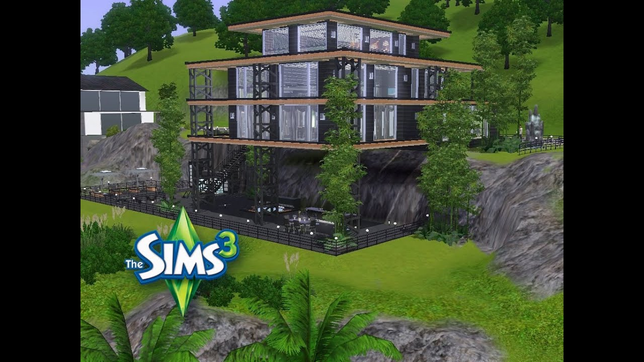 Sims 3 haus bauen let 39 s build modernes luxushaus am for Modernes haus sims 3