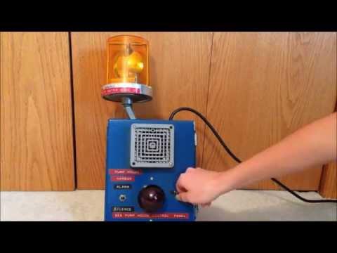Harbor Water Pump System Alarm Panel
