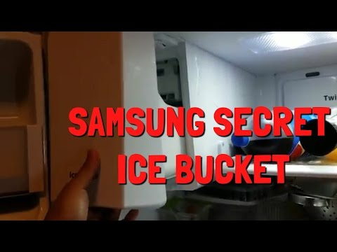 "How to access the ""hidden"" Ice Bucket of your Samsung French Door Refrigerator Stainless Container"