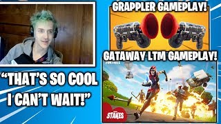 NINJA reagiert auf GETAWAY LTM & GRAPPLER 'Grappling Hook' GAMEPLAY.. (Fortnite Momente)