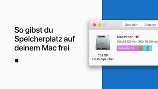 So gibst du Speicherplatz auf deinem Mac frei — Apple Support