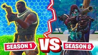 Fortnite: SEASON 1 vs. SEASON 8 CHALLENGE Modus!