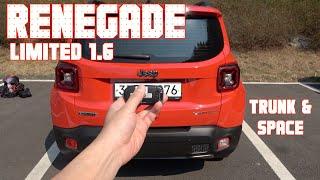 지프 레니게이드 리미티드 1.6 디젤 트렁크 & 2열(Jeep Renegade Limited 1.6 diesel trunk&space)