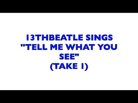 BEATLES-TELL ME WHAT YOU SEE-TAKE 1(COVER)13THBEATLE
