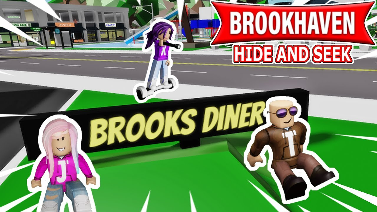 I played Hide and Seek on Brookhaven with Janet and Kate! | Roblox