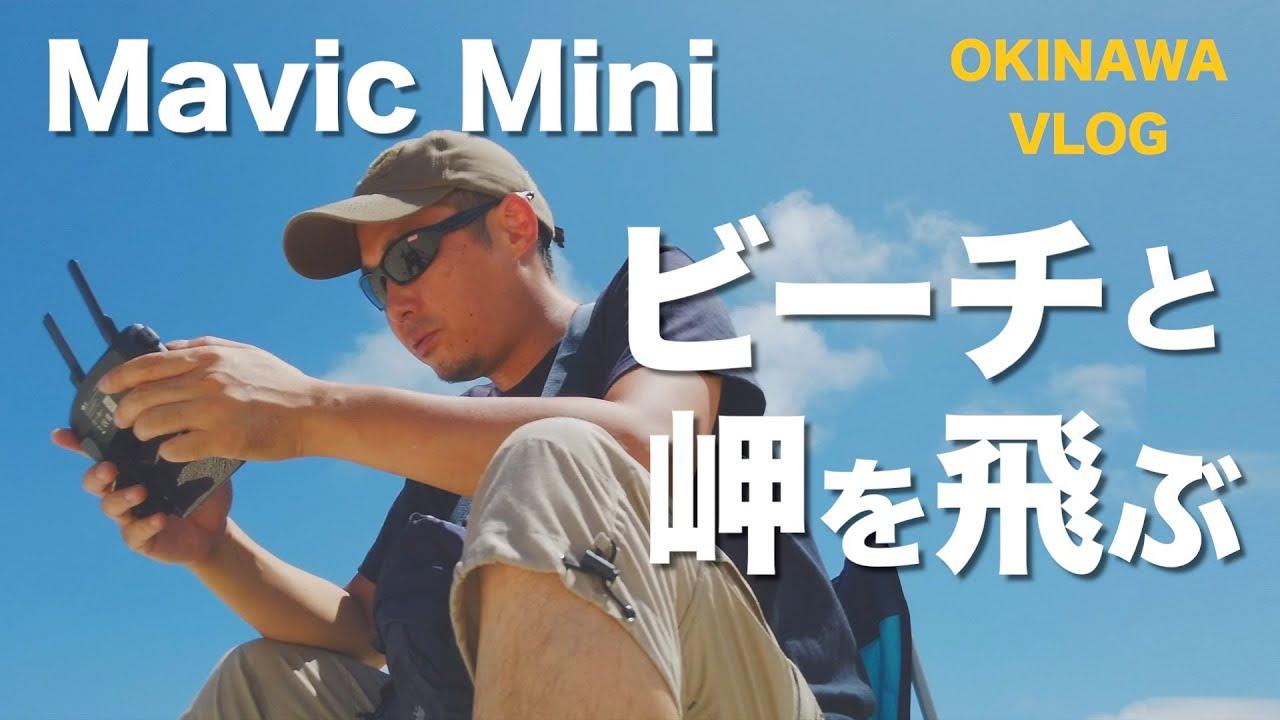 DJI Mavic Miniで沖縄のビーチと岬をドローン空撮   Vlog  