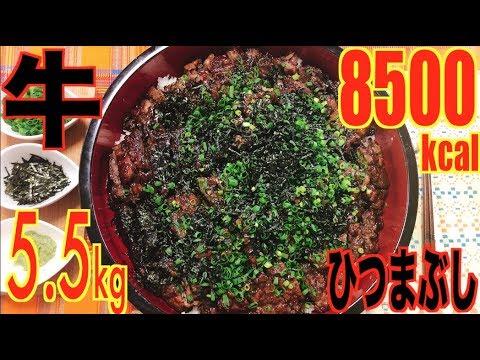 【MUKBANG】 Belut?? Hitsumabusi Sapi Panggang [& Nasi Kuah Kaldu Jepang 5.5Kg 8500kcal[Klik CC]