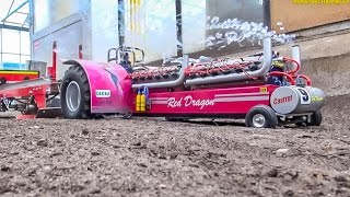 R/C tractor pulling! BIG FUN at RC Glashaus! Slow motion included!