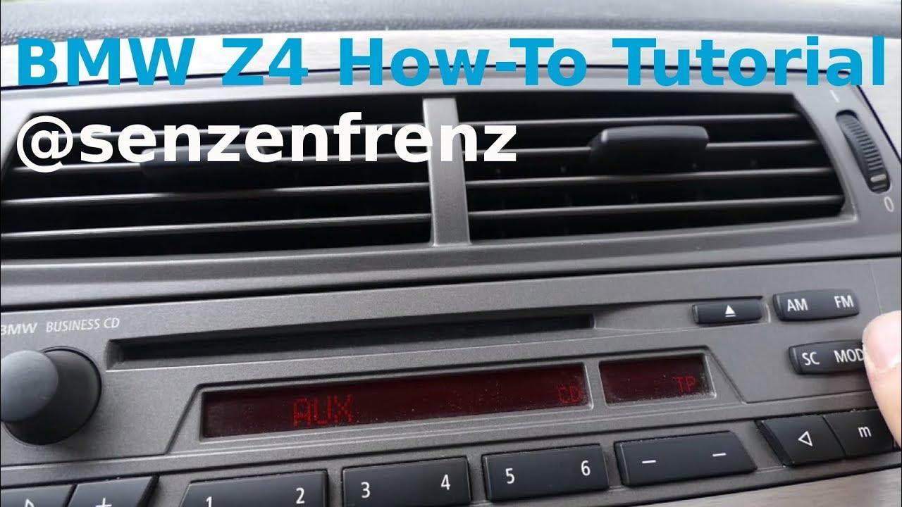 BMW Z4 E85 Aux nachrüsten ohne Radio/Lüftung auszubauen - Fit Aux ...