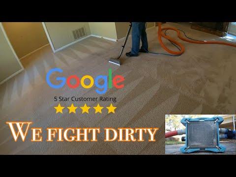 Satisfying  DIRTY Rental Property Carpet Cleaning