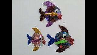 DIY Crafts for Kids - Recycling Ideas - How to Make Fishes out of Old CD + Tutorial !