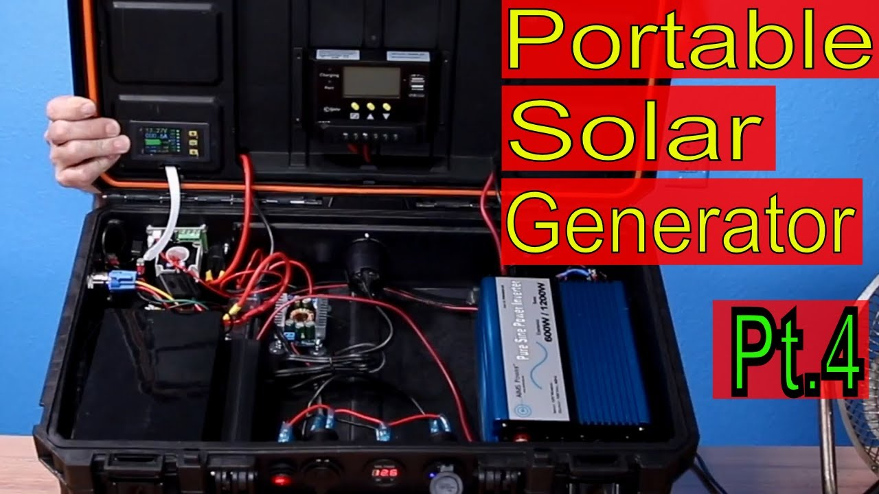 Portable Solar Generator Diy Reveal Pt 4 600 Watt Pure Sine Wave Inverter Circuit