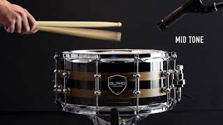 "Alpha Custom Drums / Black Acrylic snare 14"" x 6.5"""