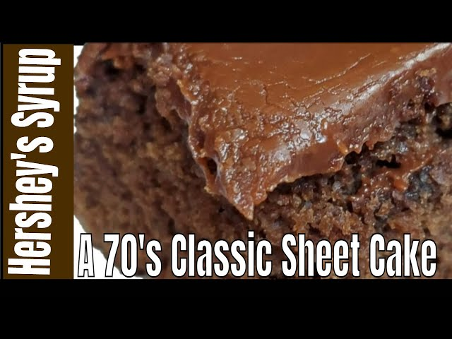 How We Make Hershey S Syrup Sheet Cake Best Old Fashioned Southern Cooks Youtube