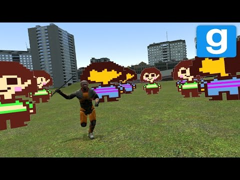 CREEPY UNDERTALE NPC CHASE! | Garry's Mod